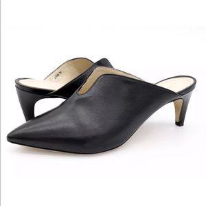 Napoleoni Womens Black Pointed Toe Stiletto Mules